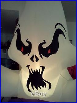 Gemmy Halloween Airblown Inflatable Lighted Whirlwind Graveyard Globe 7 Feet