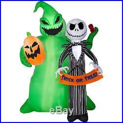 Gemmy Halloween Disney Jack & Oogie 6.5 Ft Tall Airblown Inflatable Nib