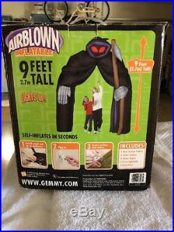 Gemmy Halloween Grim Reaper Airblown Inflatable Arch 9 ft Light Up Haunted House