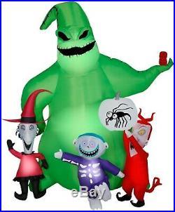 Gemmy Halloween Inflatable 7' Oogie Boogie Nightmare Before Christmas Scene