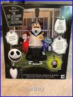 Gemmy Halloween Nightmare Before Christmas Animated Mayor With Lock Shock Barrel