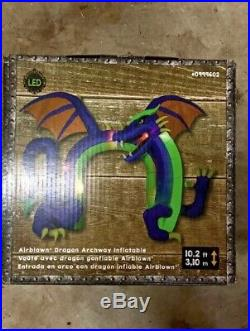 Gemmy Inflatable LED DRAGON ARCHWAY! Fire & Ice For Halloween or Birthdays