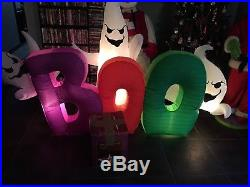 Gemmy Prototype Halloween Inflatable Boo Ghosts Blowup