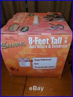 Gemmy SHREK Halloween Airblown Inflatable 8' Foot Lighted New in Box