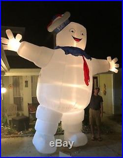 Ghostbusters 13-FT Lighted Stay Puft Marshmallow Man Halloween Gemmy Inflatable