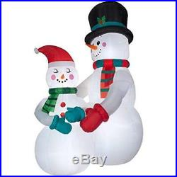 Giant 10.5 Ft Tall Lighted Christmas Snowman Couple Inflatable By Gemmy