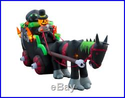 Giant Self-Inflatable Carriage Halloween Yard Decor with Super Bright Lightning