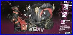 Grim Reaper Double Horse Carriage Halloween inflatable