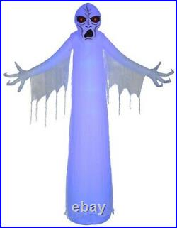 HALLOWEEN 12 FT SHORT CIRCUIT GIANT BLUE GHOUL Airblown Inflatable YARD