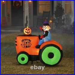 HALLOWEEN 6FT SCARECROW TRACTOR HARVEST Airblown Inflatable THANKSGIVING NEW
