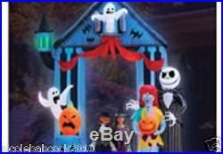 Halloween 9 Ft Jack Skellington & Sally Archway Airblown Inflatable Yard Decor