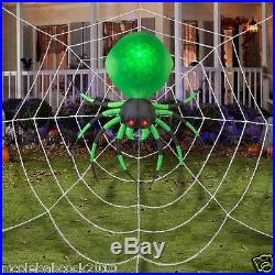 Halloween Airblown 6 Ft By 6 Ft Spider On A Webb Inflatable Yard Decor Prop