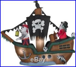 HALLOWEEN AIRBLOWN INFLATABLE 10' Animated Skeleton Halloween Pirate Ship