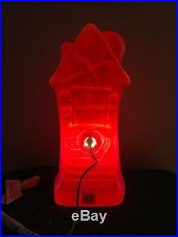 HTF New Spooky Halloween 17 Lighted Blow Mold Haunted House Decoration