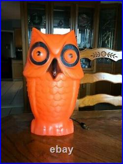 HTF Tico Toys Halloween Blow Mold Owl Lighted Yard Decoration 13.5 in