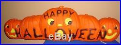 HTF Vintage Halloween Large 5 Pumpkin Blow Mold
