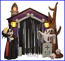 HUGE Halloween Inflatable Haunted House Arch Archway Skeleton Ghost Decoration