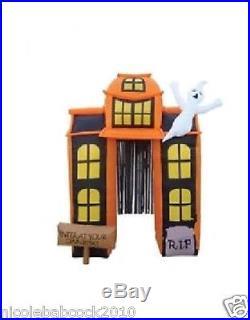 Halloween 9' Walk Thru Lighted Archway W Ghost Airblown Inflatable