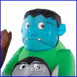 Halloween Animated Cadillac Frankenstein Dracula Werewolf Inflatable Airblown