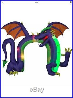 Halloween DRAGON ARCHWAY Flickering Fire & Ice Light Effect Airblown Inflatable