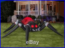 Halloween Huge Fire & Ice Spider Haunted House Inflatable Airblown 14 Ft