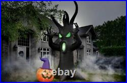 Halloween Inflatable 12 Ft Pre-Lit Scary Tree