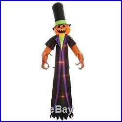 Halloween Inflatable 12' Pumpkinhead Man With Big Hands & Tophat