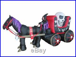 Halloween Inflatable Air Blown Blowup Decoration Skeleton Ghost Mustang Carriage