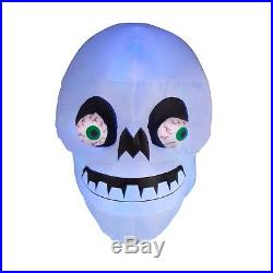 Halloween Inflatable Animated Skull With Spinning Eyes By Gemmy