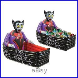 Halloween Inflatable Decoration 3' Coffin Outdoor Pumpkin Lawn Home Yard Scary