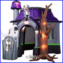 Halloween Inflatable Haunted House with LED Lights for Decoration