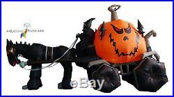 Halloween Inflatables Grim Reaper Driving Pumpkin Carriage Outdoor Yard Decor
