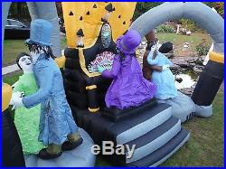 Halloween Organ Player With Dancing Zombies Inflatable AirBlown Yard Gemmy
