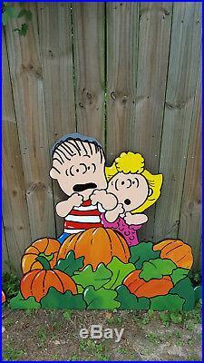 Halloween Peanuts Yard Art Pumpkins