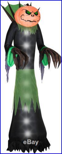 Halloween Pumpkin Head Reaper Monster Inflatable Decor Outdoor Yard Decoration