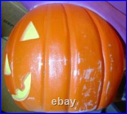 Halloween Witch on Broom Pumpkin Blow Mold Don Featherstone Design