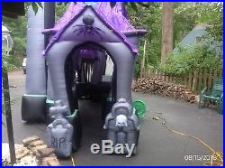 Halloween haunted house/castle inflatable 12.5 ft. Very good used condition
