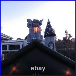 Haunted House Halloween Airblown Inflatable RARE! 11' Tower Yard Decor Sound