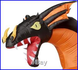 Huge ANIMATED TWO HEADED DRAGON FIRE AND ICE Airblown Lighted Yard Inflatable