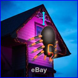 Huge Animated Spider Inflatable Crawling Outdoor Halloween House Lighted Decor