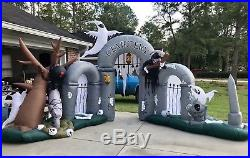 Huge Halloween Airblown Inflatable Cemetery Archway By Gemmy RARE Hard To Find