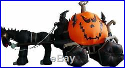 Huge Halloween Inflatable Skeleton Ghost Carriage Outdoor Decoration Yard Scary