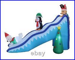 Inflatable Decoration Polar Bear Reindeer Penguin Slide Christmas Tree Blow up