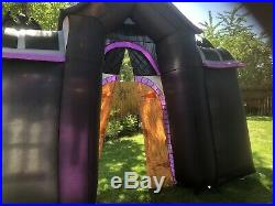 Inflatable Mortuary Archway Gemmy. 9 Ft Tall 10' Wide Halloween Rare