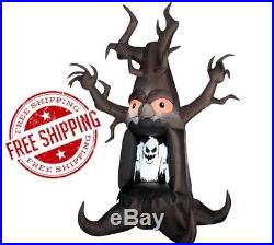 Inflatable Scary Tree Animated Halloween Decoration Airblown Outdoor Yard Gemmy