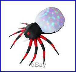 Inflatejoy Halloween Inflatable Blow-up Spider with Kaleidoscope Light Inside