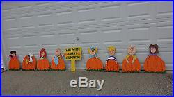 It's The Great Pumpkin, Charlie Brown! 9 Pieces New Handmade Wooden Yard Art