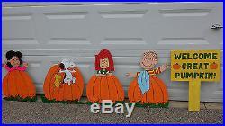 It's The Great Pumpkin, Charlie Brown! Wooden Yard Art Set
