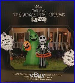 Jack Skellington & Oogie Boogie Nightmare Before Christmas Airblown Inflatable