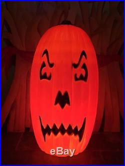 LAST NEW Halloween Huge 36 Dual Faces Lighted Blow Mold Pumpkin Decoration